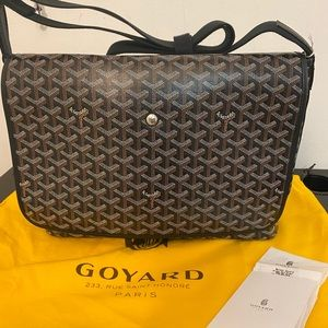 Goyard Capetien Messenger Bag Black  NEW